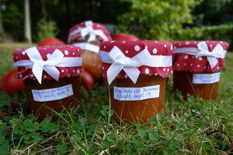 Confiture de pommes aux épices et Calvados