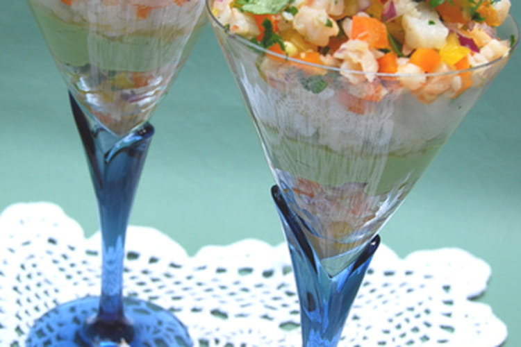 Coupes sushis aux crevettes