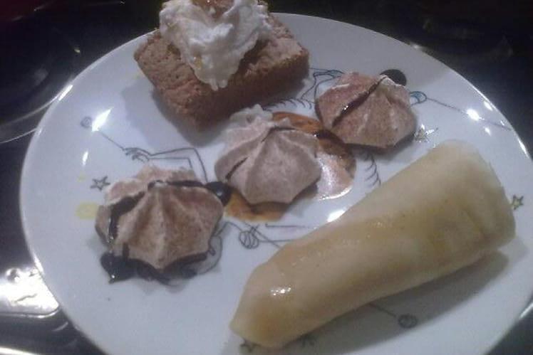 Génoise chocolat-caramel