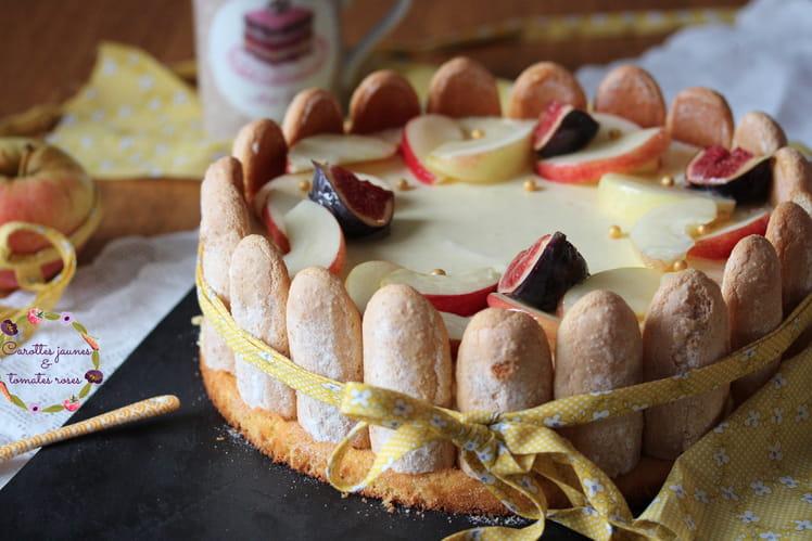 Charlotte pomme, caramel de beurre salé et vanille