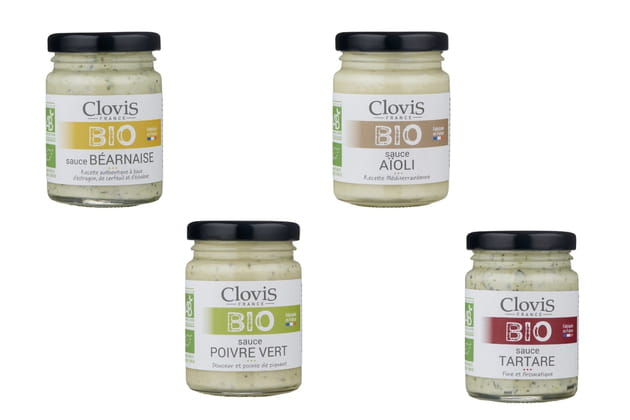 Les sauces béarnaise, aïoli, poivre vert et tartare de Clovis