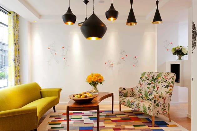 Un salon chaleureux et convivial