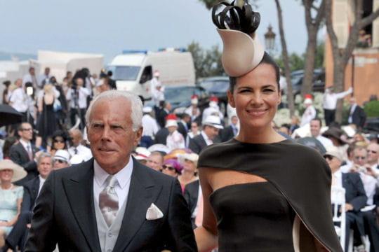 Giorgio Armani, créateur de la robe de mariée