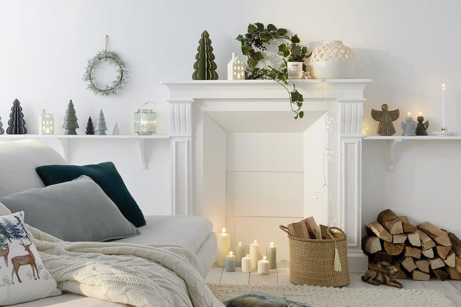 Des idées de décoration de Noël pour la cheminée