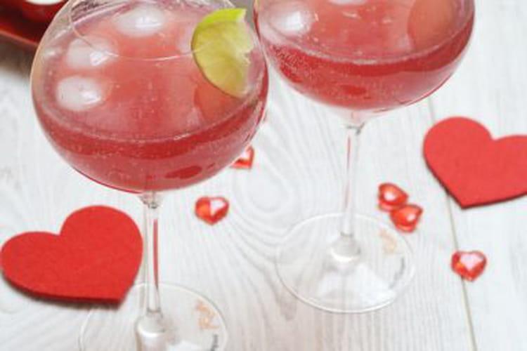 Cocktail à la grenade Saint-Valentin