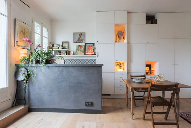 Une mini cuisine ouverte