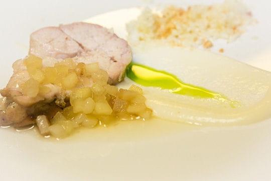 Bravo : Ris de veau rôti au charbon de bois, crème de chou-fleur et babeurre