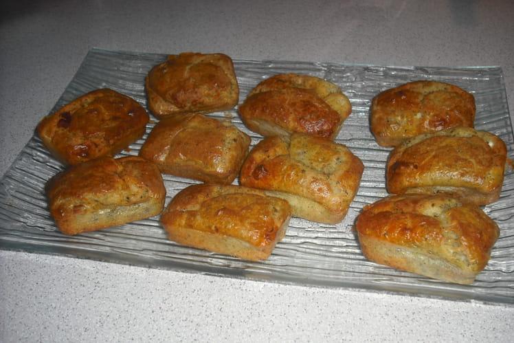 Mini cakes au chèvre, pesto et chorizo