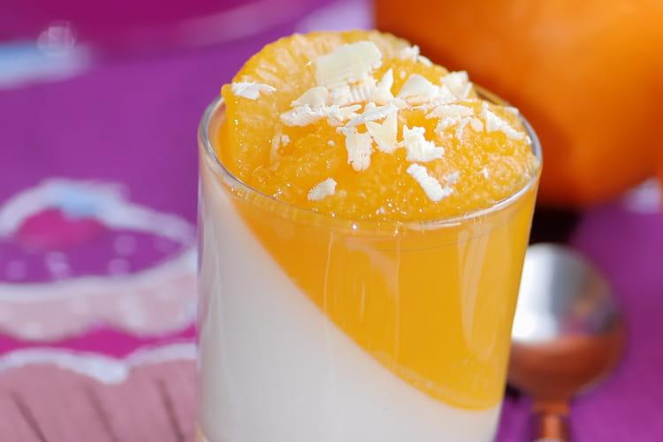 Panna cotta orange et chocolat blanc