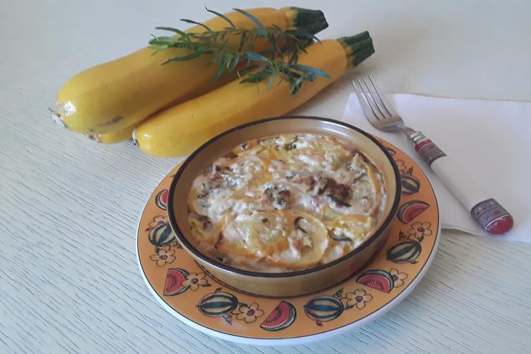 Gratin de courgettes pommes de terre à la Fourme d'Ambert