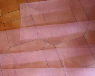 couper les bandes de tulle