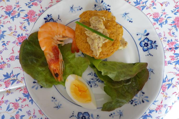 Flans à la bisque de homard