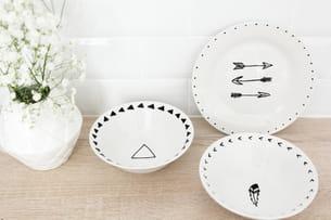 coupelles en porcelaine à motifs navajo