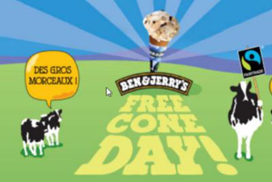 Free Cone Day : glaces gratuites chez Ben & Jerry's
