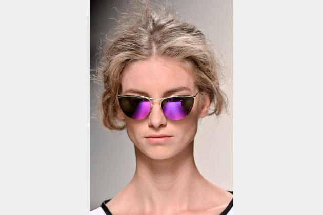 Les lunettes miroir de Alberta Ferretti