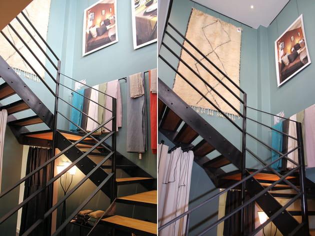 escalier de style industriel. Black Bedroom Furniture Sets. Home Design Ideas