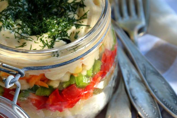 Salade dans le bocal
