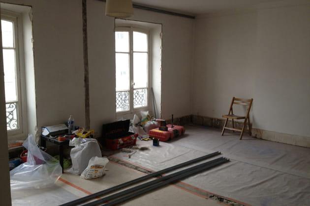 Après : une grande pièce à vivre