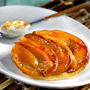 tarte tatin aux pommes rubinette et au coing
