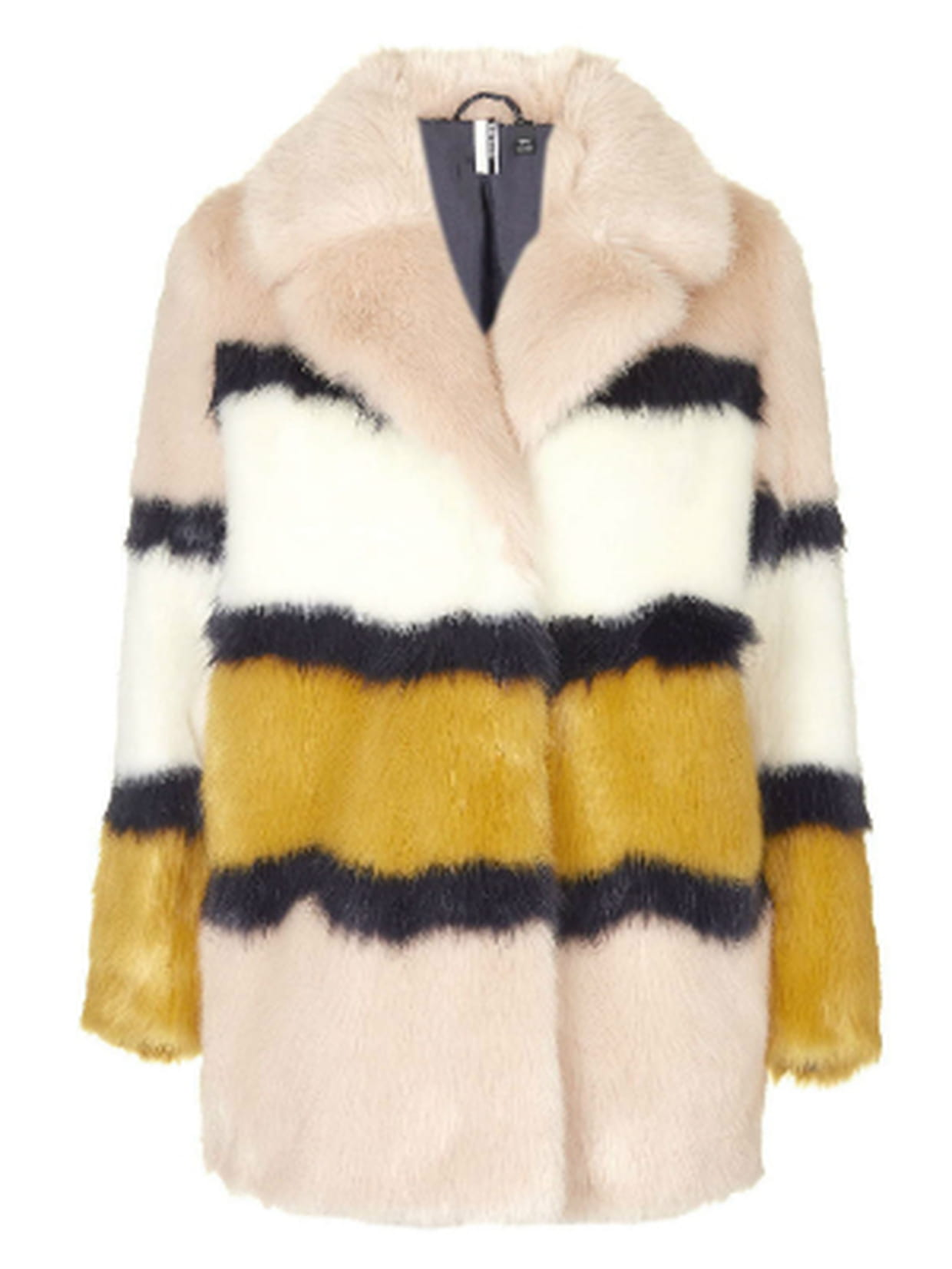 Manteau en fourrure synthétique à motif tigre | Topshop