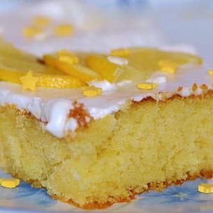carrés moelleux au citron