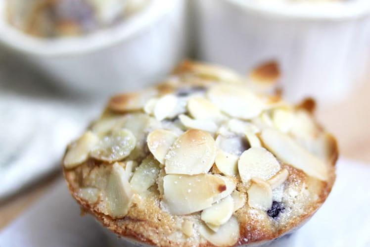 Muffins aux myrtilles et amandes