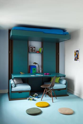 lit triptyque par guillaume parent pour espace loggia. Black Bedroom Furniture Sets. Home Design Ideas