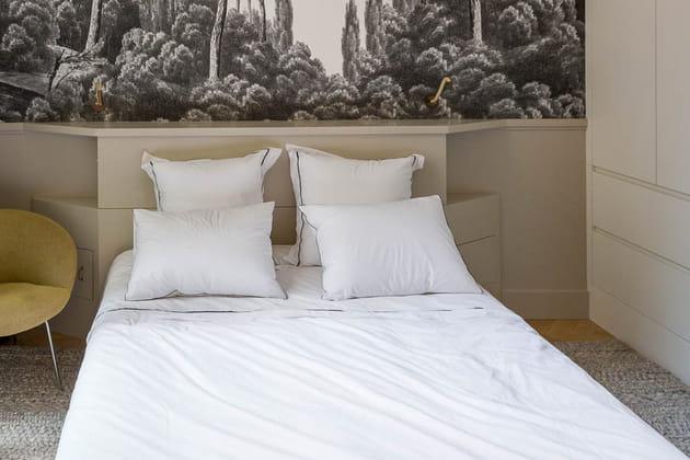 Tête de lit en bois sur-mesure