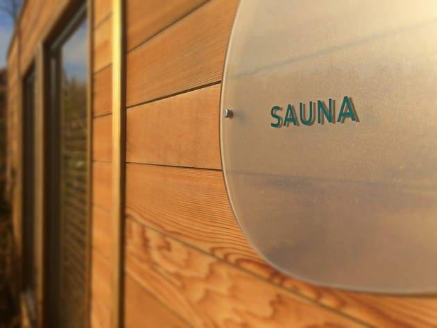Sauna finlandais extérieur
