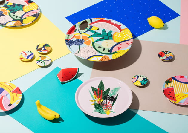 Assiettes Fruits par &klevering
