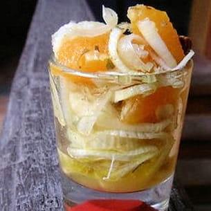 salade croquante de fenouil à l'orange