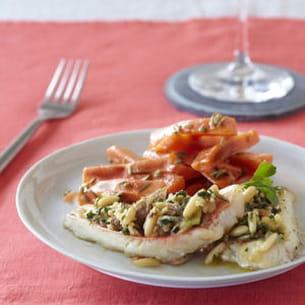 filets de rouget gratiné au cidre, façon provençale