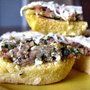 hachis provençal sur lit de polenta