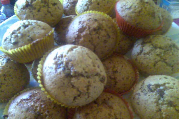 Muffins Beurre de cacahuètes et 3 chocolats