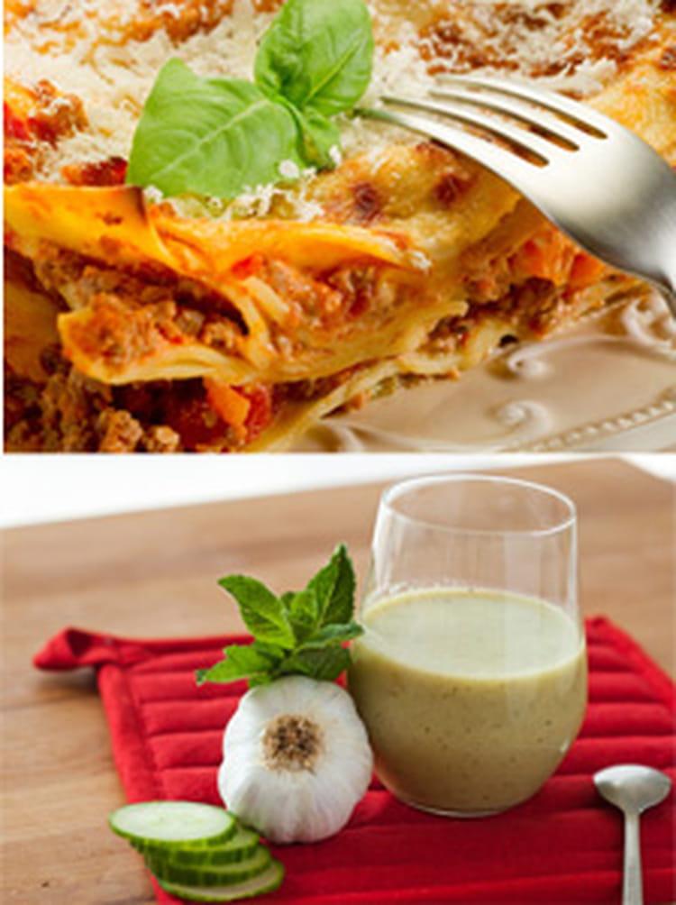 recette de soupe froide de concombre menthe et lasagnes. Black Bedroom Furniture Sets. Home Design Ideas
