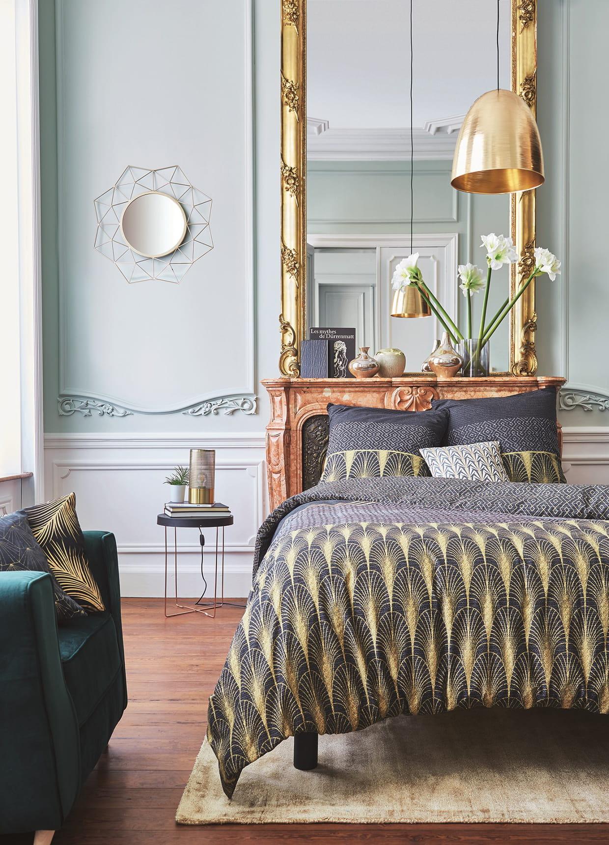 housse de lit charleston d 39 alin a. Black Bedroom Furniture Sets. Home Design Ideas