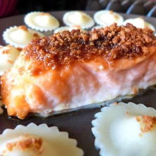 saumon en croûte de spéculoos