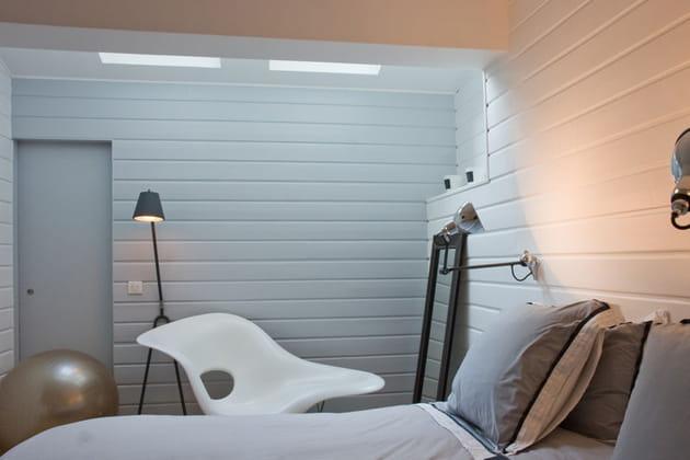 Chambre design à la déco néo-industrielle