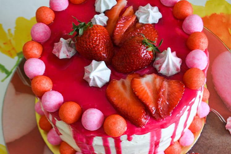 Layer cake vanille et fraises