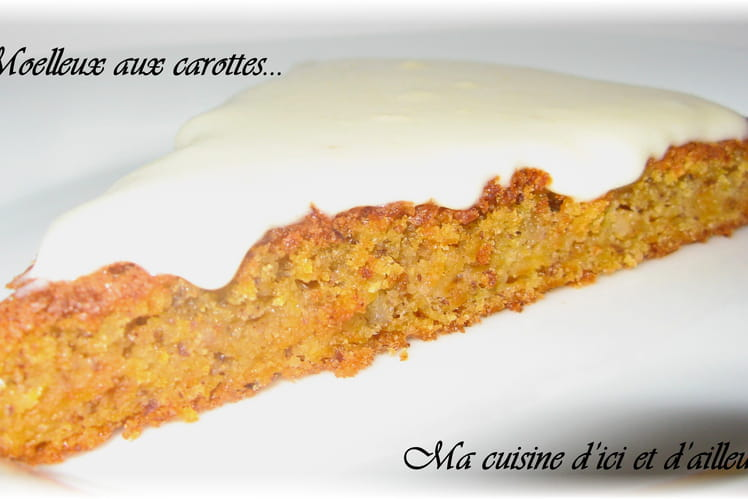 Moelleux aux carottes et noisettes, glaçage au fromage