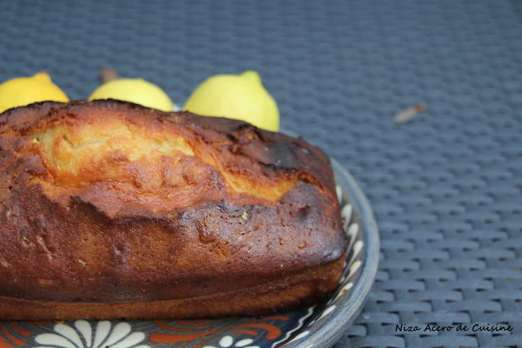 Cake orange et citron, yaourt et amandes