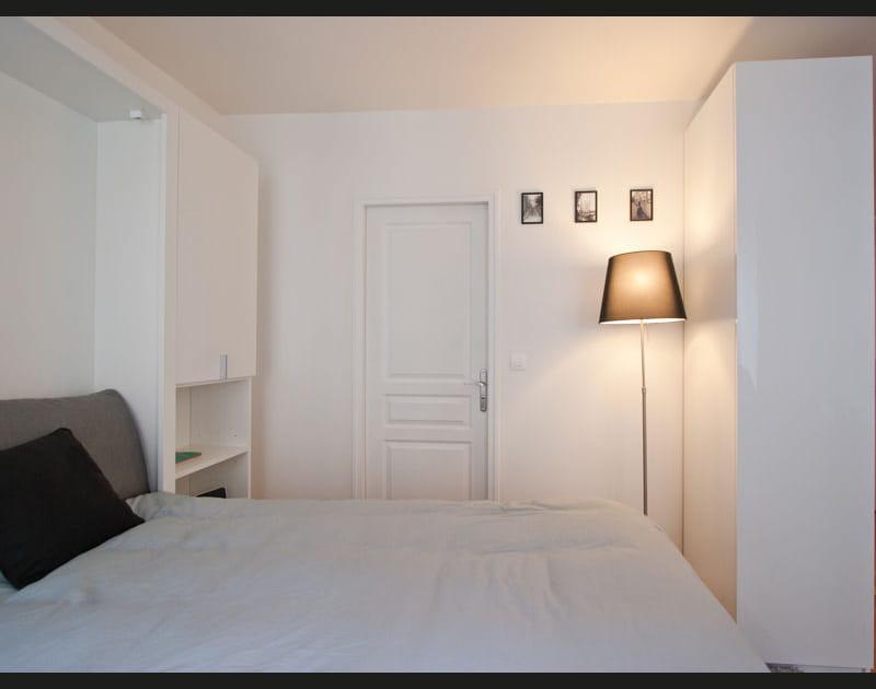 Chambre blanche pour petit espace