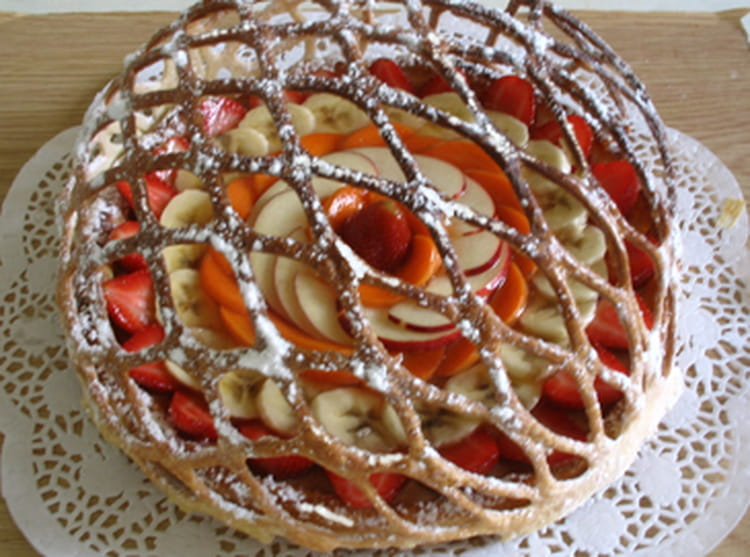 tarte en lorgnette aux fruits du moment