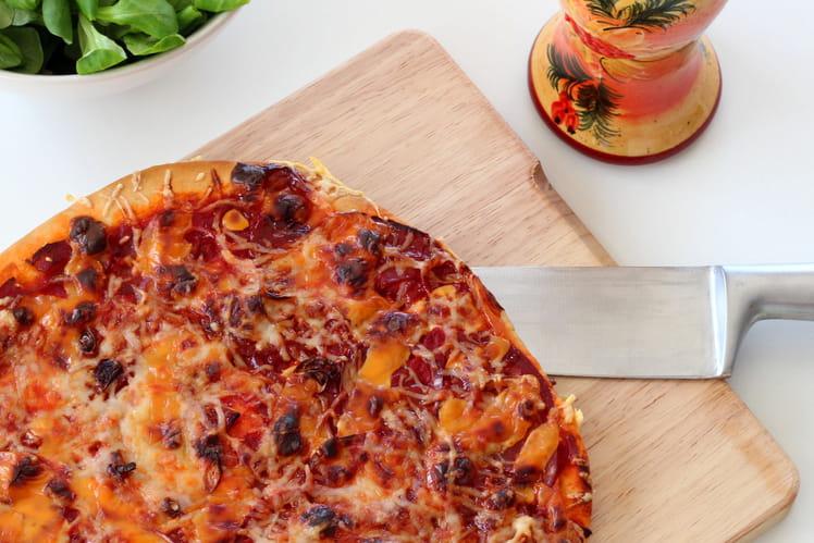 Pizza chorizo - cheddar