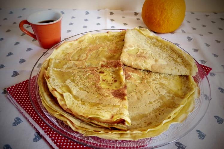 Crêpes au jus d'oranges sans lactose