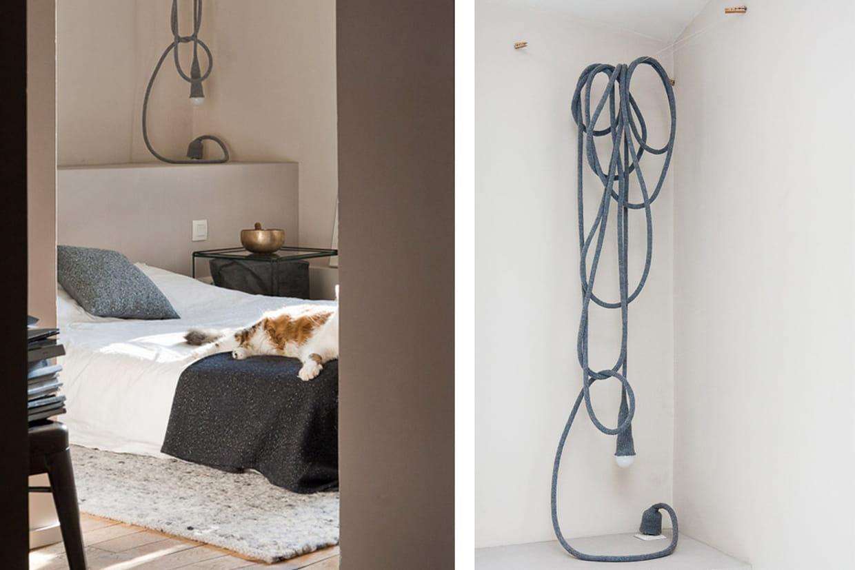 une lampe liane d corative. Black Bedroom Furniture Sets. Home Design Ideas