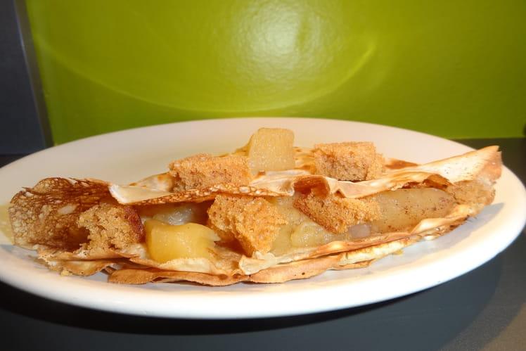 Crêpe pomme poire et pain d'épices