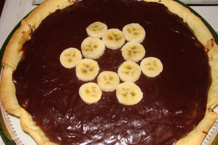 Tarte chocolat  banane