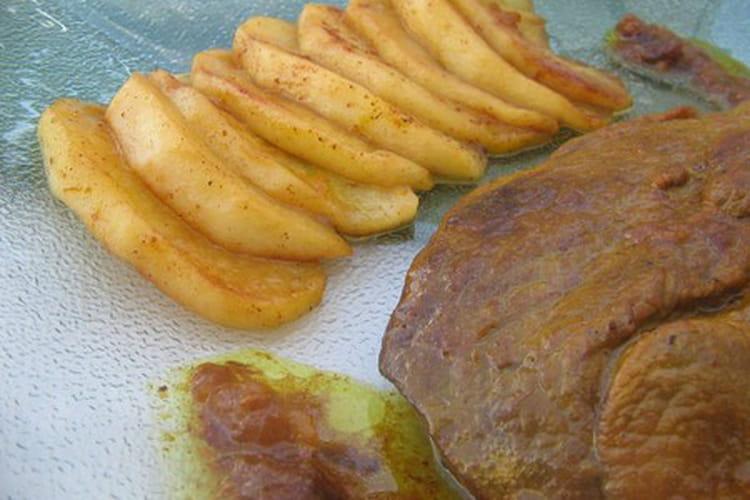 Collier d'agneau aux pommes caramélisées