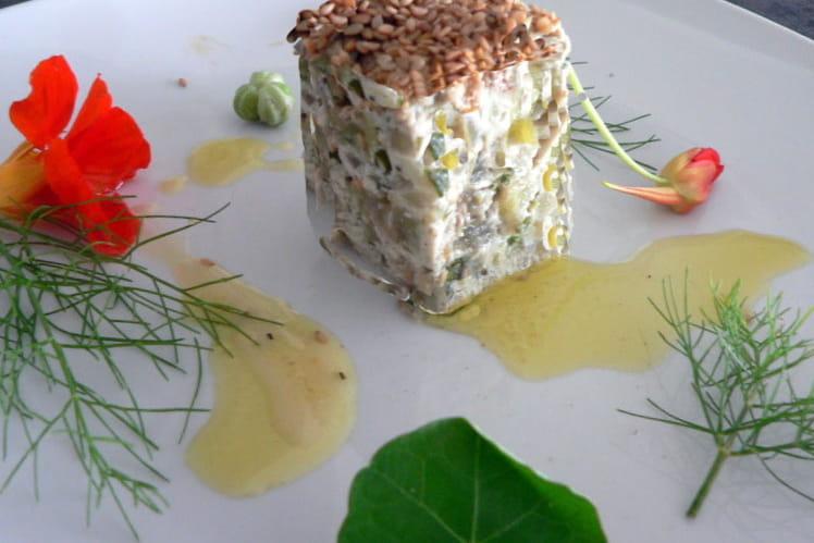 Terrine d'aubergines aux herbes aromatiques